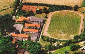 Sportplatz und Schule von oben