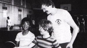Norbert Selent beim Jugendtraining