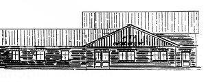 Planungsskizze des Vereinsheims