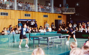 Tischtennis-Turnier in der Sporthalle Himbergen